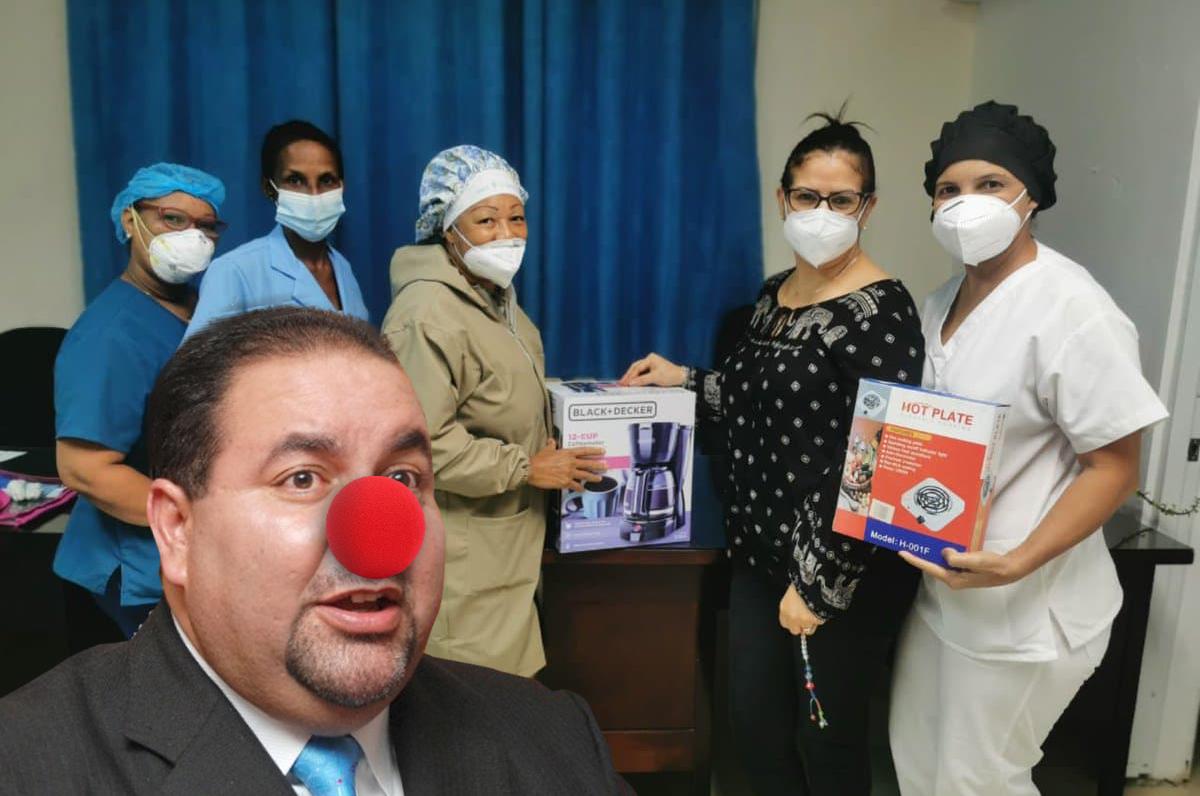 """Ramón R. Genao se jacta de """"donar"""" una greca y una hornilla eléctrica al sector salud"""
